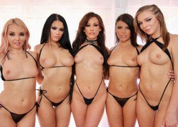 Imagen Adriana Chechik y sus amigas disfrutan de una orgía juntas